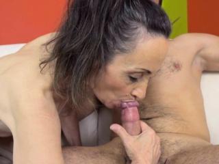 Dick licking pensioner