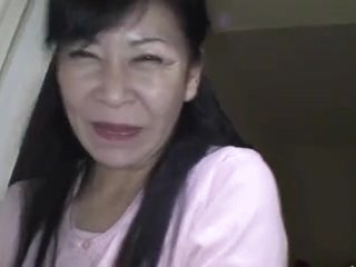 49yr old Granny Maki Shikano receives Creamed (Uncensored)