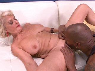 Big Black Cock Makes Georgette Cum Hard! - 60PlusMilfs