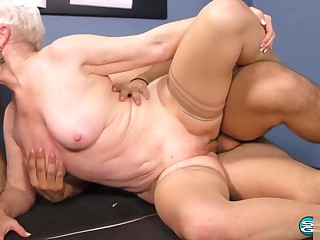60 Plus Milf Ms. Jewel fucking on a threesome