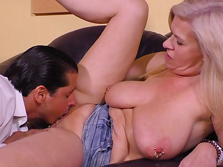 Casting a Filthy German Granny