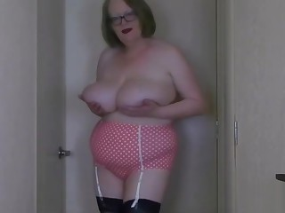 My pink and white girdle