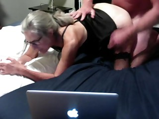 Hot MILF Gets Fucked From Behind Gets Cum All Over Her Ass Mature Granny