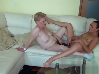 Horny Granny Deals Someone Guess Who