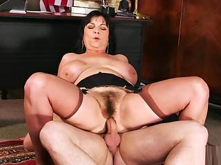 Elektra Lamour anal hairy granny office
