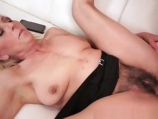 Mature Granny Stroking