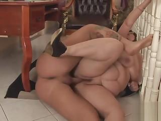 Chubby Grandmother Pleasures A Thick Boner