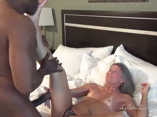 Horny, black man took an elderly woman to a hotel room and fucked her brains out
