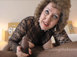 Horny grandma felling her hole with a BBC