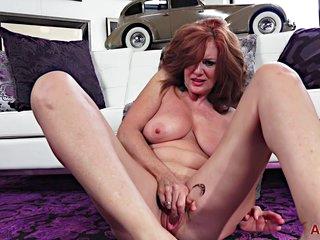 Andi James - Redhead Lady Uses Toy Horny Gilf