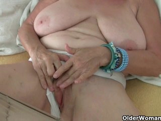 Busty gilf from the UK gets fondled